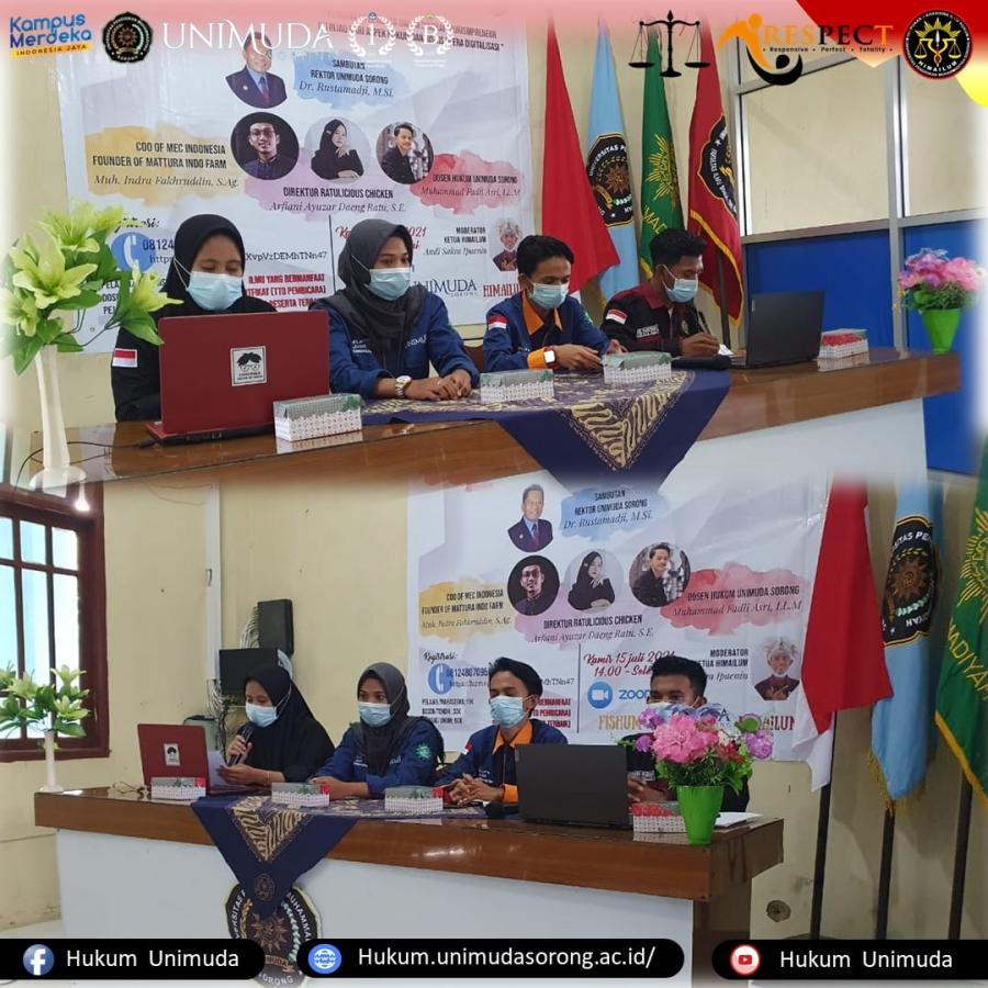 Webinar Kuliah Asyik (KLASIK) Hukum Vol.1 Program Studi Hukum Universitas Pendidikan Muhammadiyah Sorong