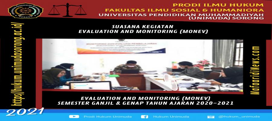 Proses Monitoring and Evaluation Tahun Akademik 2020-2021